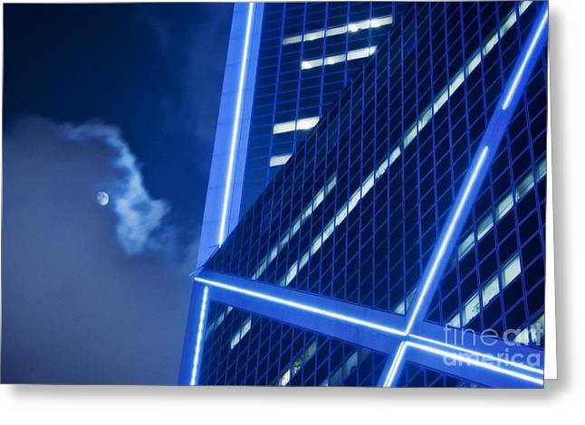 Hong Kong Moonlight Greeting Card by Ray Laskowitz - Printscapes