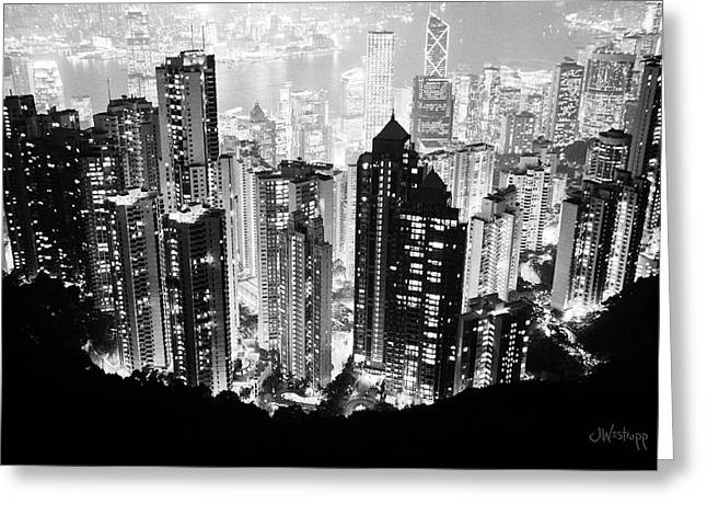 Hong Kong Nightscape Greeting Card