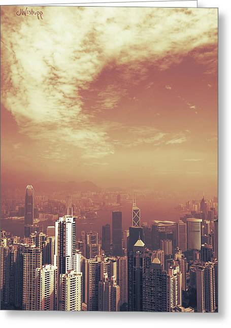 Hong Kong Portrait Greeting Card by Joseph Westrupp