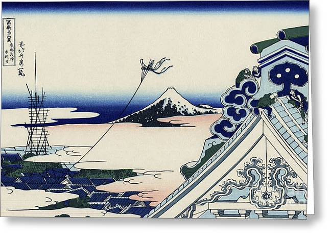 Honganji Temple At Asakusa In The Eastern Capital Greeting Card