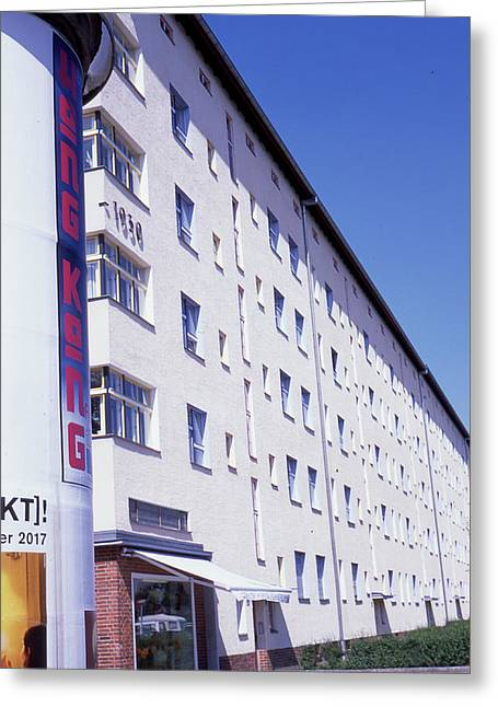 Honk Kong And Building In Berlin Greeting Card