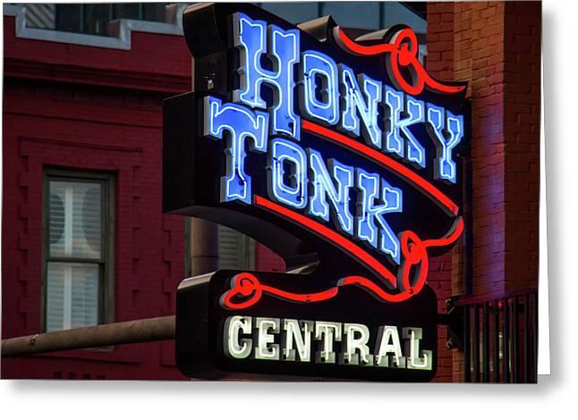 Honky Tonk Nashville Greeting Card