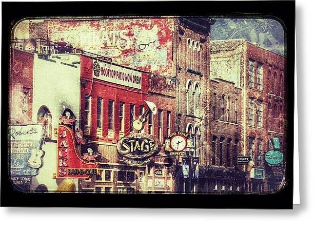 Honky Tonk Row - Nashville Greeting Card