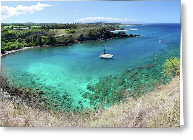 Honolua Bay Maui Greeting Card by Pierre Leclerc Photography