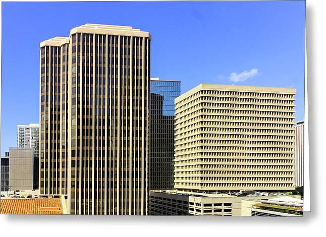 Honolulu From Roof Top Greeting Card by Carolyn Ricks