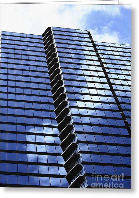 Honolulu Skyscraper Greeting Card by Brandon Tabiolo - Printscapes