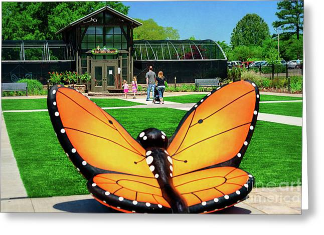 Honor Heights Butterfly House Greeting Card by Tamyra Ayles