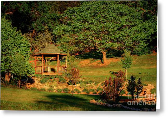 Honor Heights Gazebo Greeting Card by Tamyra Ayles