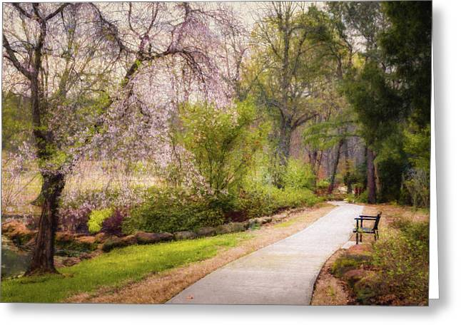 Honor Heights Pathway Greeting Card by James Barber