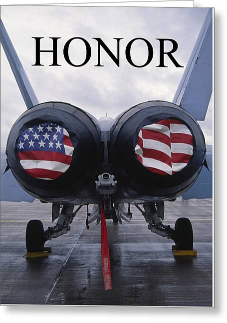 Honor The Flag Greeting Card