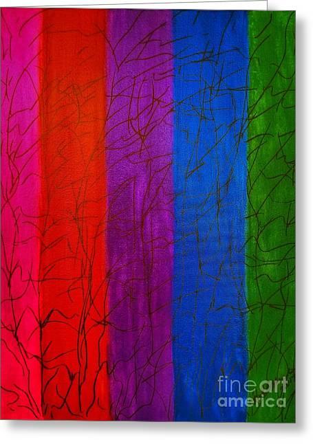 Honor The Rainbow Greeting Card by Rachel Hannah