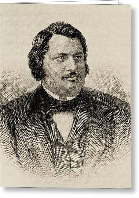 Honore De Balzac 1799-1850. French Greeting Card by Vintage Design Pics