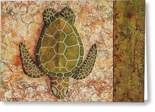 Greeting Card featuring the painting Honu Maui 2 by Darice Machel McGuire
