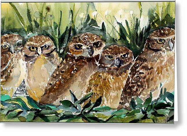 Hoo Is Looking At Me? Greeting Card by Mindy Newman