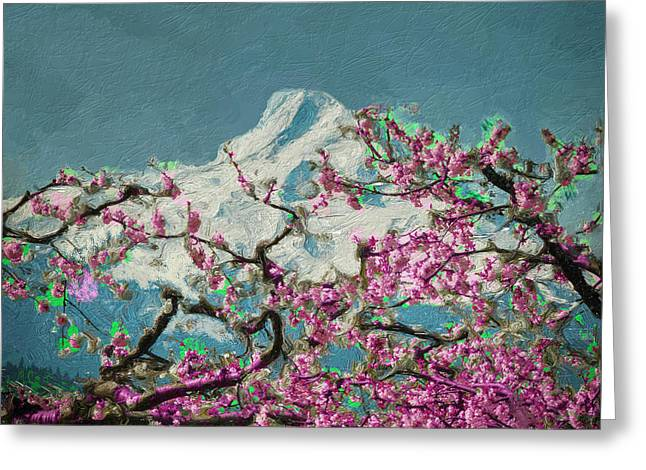 Greeting Card featuring the digital art Hood Blossoms by Dale Stillman
