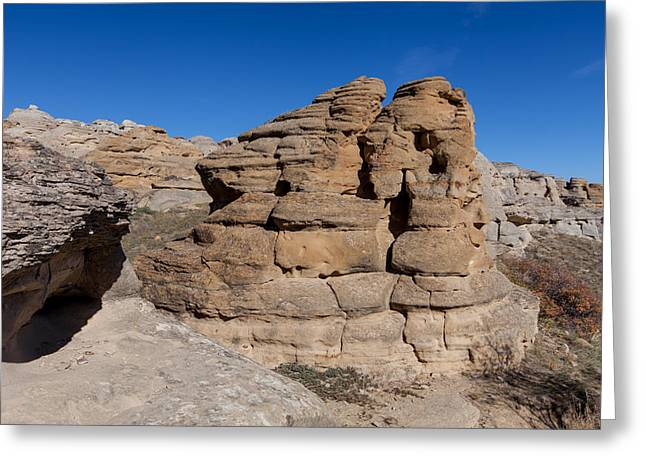 Greeting Card featuring the photograph Hoodoo Stack by Fran Riley