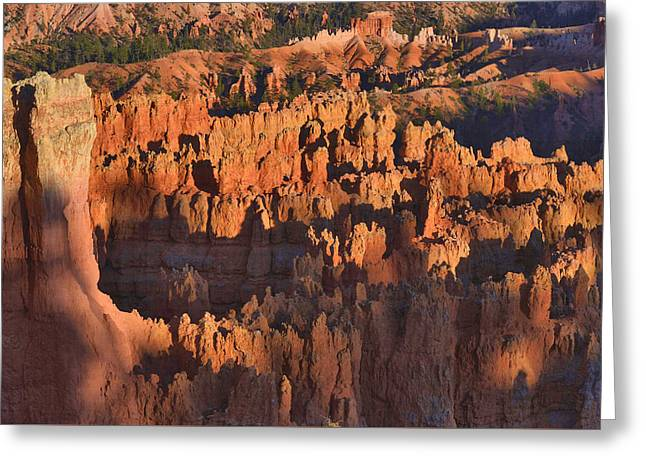 Greeting Card featuring the photograph Hoodoos At Sunset by Stephen  Vecchiotti