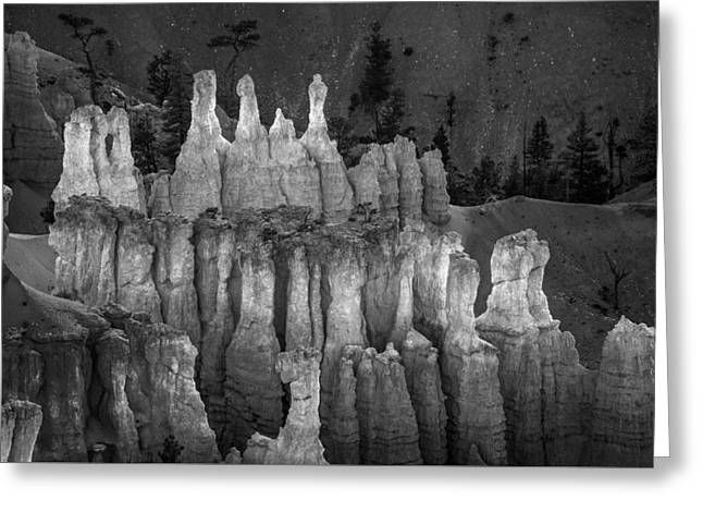 Hoodoos In Monochrome Greeting Card by Joseph Smith