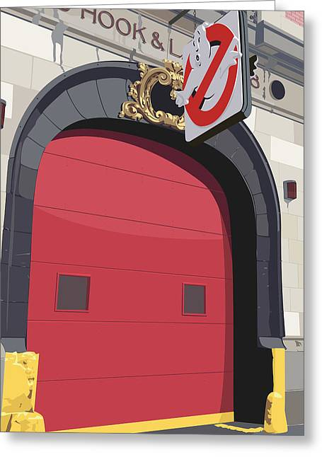 Hook And Ladder No. 8 Greeting Card by Kurt Ramschissel
