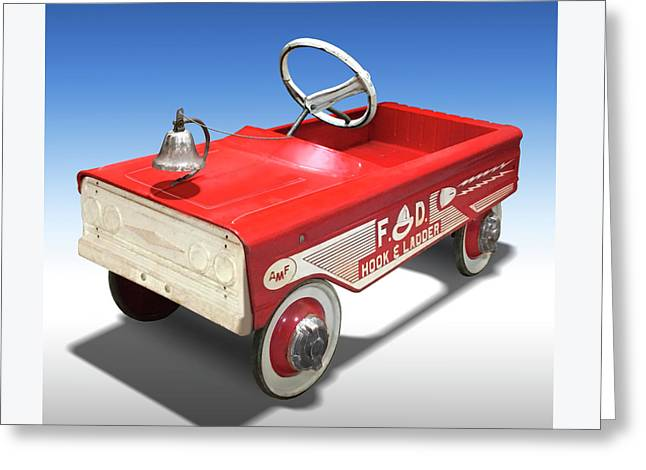 Hook And Ladder Peddle Car Greeting Card by Mike McGlothlen