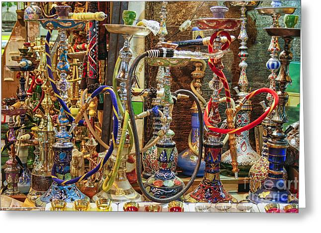 Hookahs Greeting Card by Patricia Hofmeester