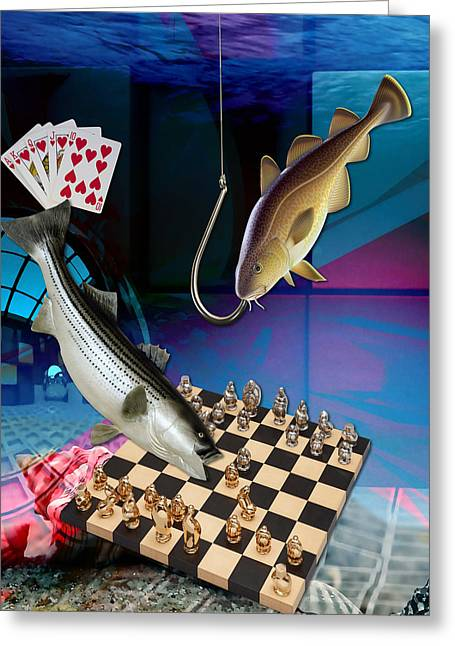 Hooked On Game Playing Greeting Card