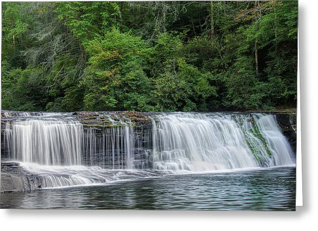 Greeting Card featuring the photograph Hooker Falls by Steven Richardson