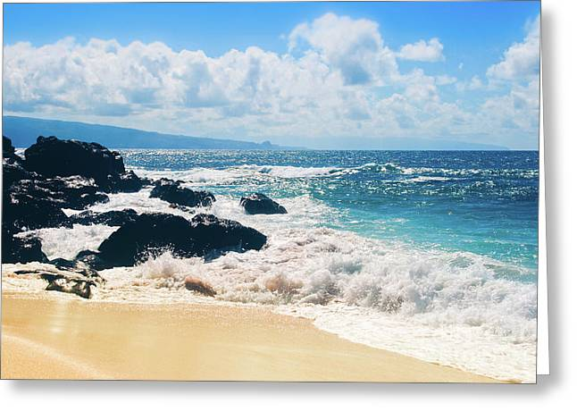 Greeting Card featuring the photograph Hookipa Beach Maui Hawaii by Sharon Mau