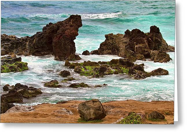Ho'okipa View Greeting Card by Marcia Colelli