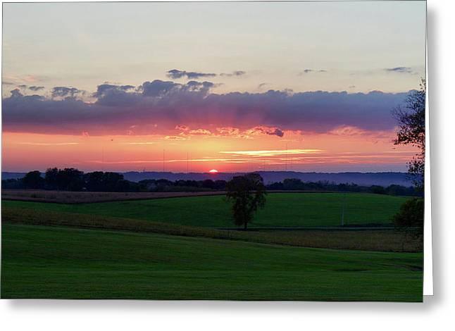 Hoosier Sunset Greeting Card