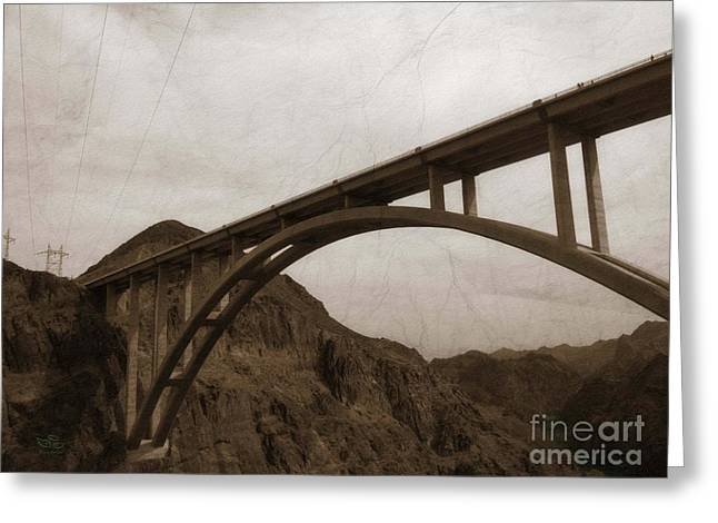 Greeting Card featuring the photograph Hoover Dam Bridge by Beauty For God