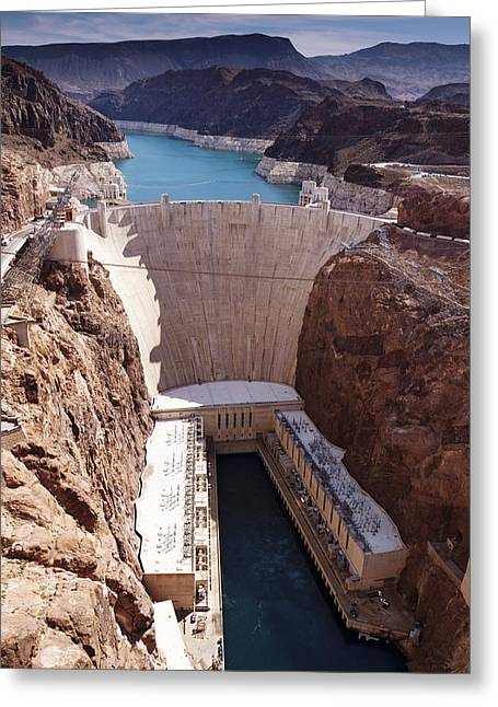 Best Sellers -  - Power Plants Greeting Cards - Hoover Dam II Greeting Card by Ricky Barnard