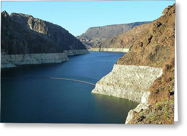 Greeting Card featuring the photograph Hoover Dam In May by Emmy Marie Vickers