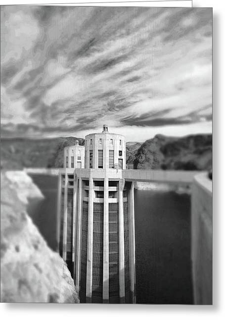 Hoover Dam Intake Towers No. 1-1 Greeting Card
