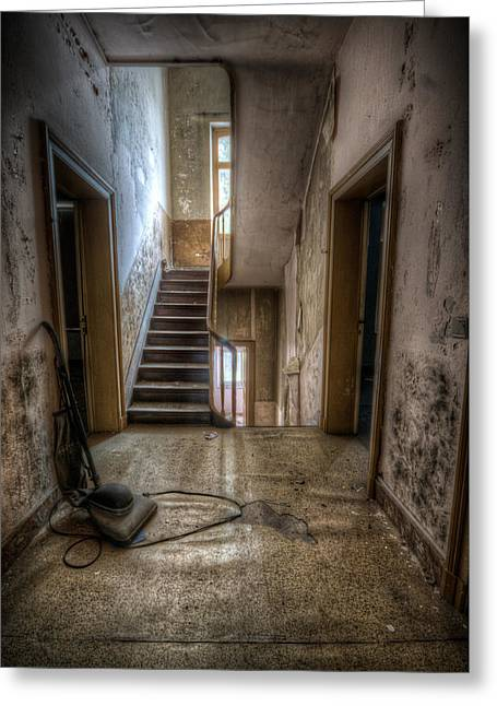 Hoover Halllway Greeting Card by Nathan Wright