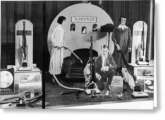 Hoover Vacuums Display Greeting Card by Underwood Archives