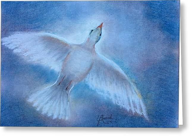 Greeting Card featuring the painting Hope And Peace by Laila Awad Jamaleldin