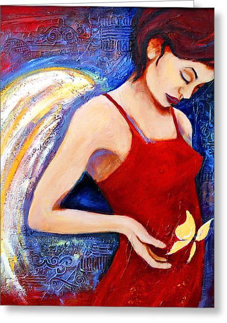 Hope Greeting Card by Claudia Fuenzalida Johns