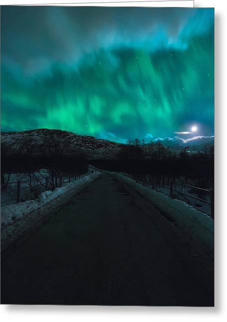 Hope In Light Greeting Card by Tor-Ivar Naess