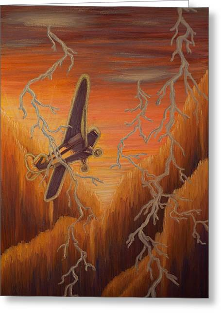 Airplane Pastels Greeting Cards - Hope in the Distance Greeting Card by Thomas Maynard