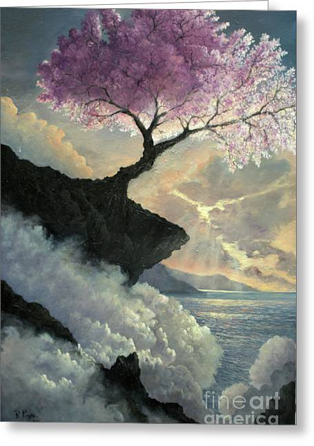 Greeting Card featuring the painting Hope Inclines by Rosario Piazza