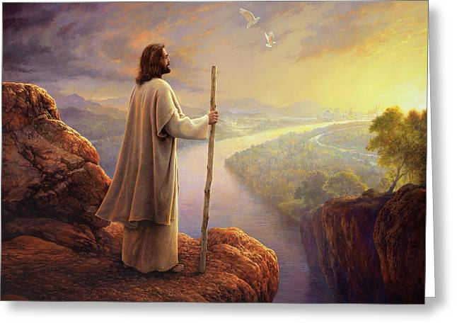 Hope On The Horizon Greeting Card by Greg Olsen