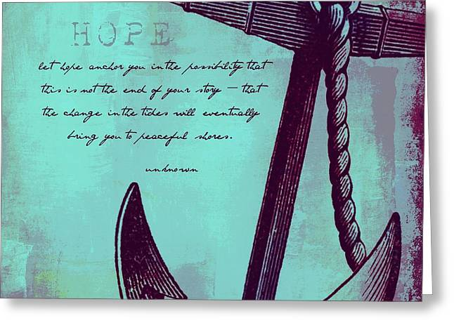 Hope Peaceful Shores V3 Greeting Card by Brandi Fitzgerald