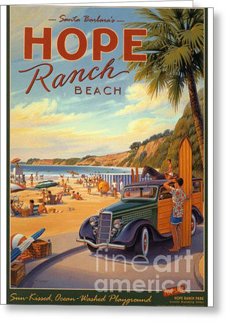 Hope Ranch Beach Greeting Card