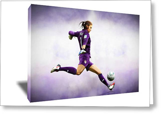Hope Solo Uswnt's Goalkeeper Canvas Art Greeting Card