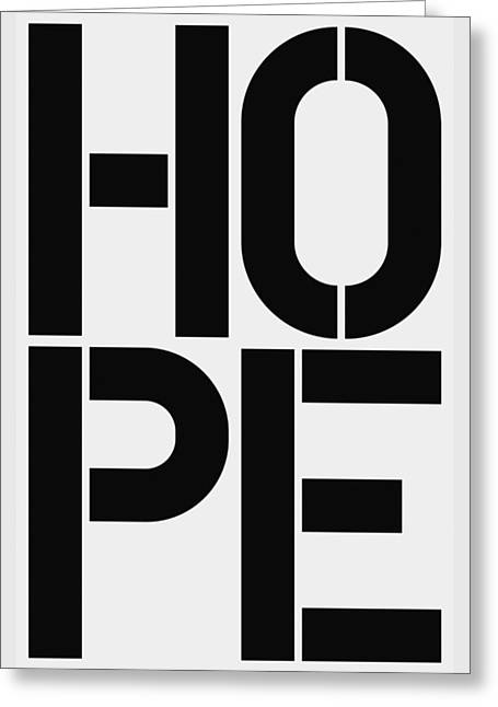 Hope Greeting Card by Three Dots