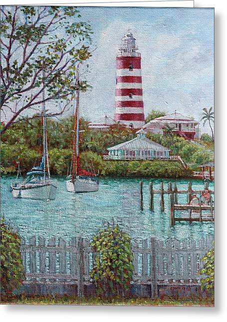 Hope Town Lighthouse Greeting Card
