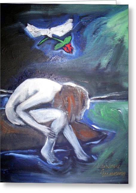 Greeting Card featuring the painting Hope  by Winsome Gunning