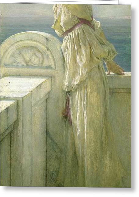 Hopeful Greeting Card by Sir Lawrence Alma-Tadema