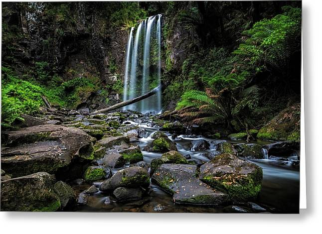 Hopetoun Falls Greeting Card by Mark Lucey
